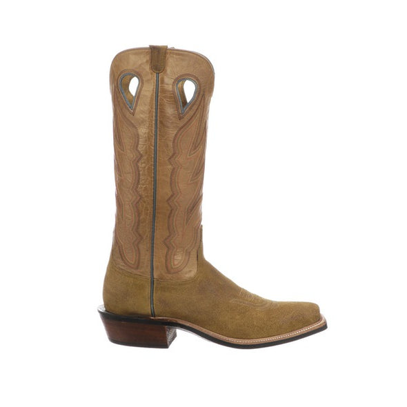 Men's Lucchese Rayburn Leather Boots Handcrafted Sand - yeehawcowboy