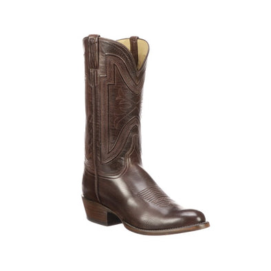 Men's Lucchese Collins Buffalo Boots Handcrafted Whiskey - yeehawcowboy