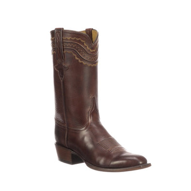 Men's Lucchese Devin Leather Boots Handcrafted Tan - yeehawcowboy