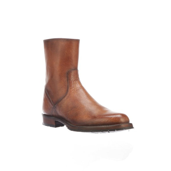 Men's Lucchese Jayden Leather Ankle Boots Handcrafted Light Brown - yeehawcowboy