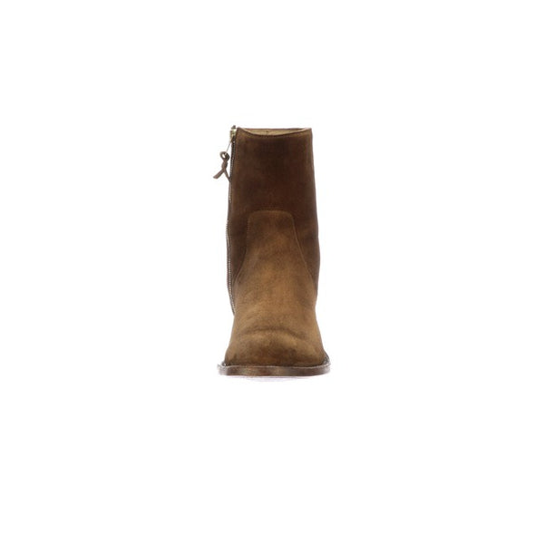 Men's Lucchese Jonah Leather Ankle Boots Handcrafted Cognac - yeehawcowboy