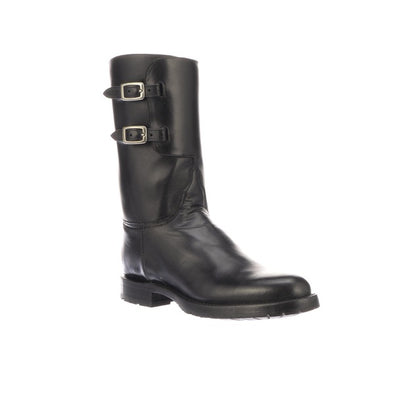 Men's Lucchese Powell Leather Boots Handcrafted Black - yeehawcowboy