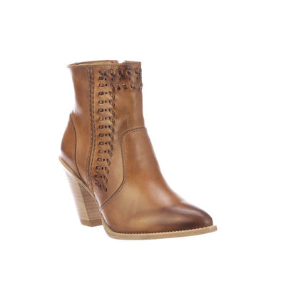Women's Lucchese Piper Leather Ankle Boots Handcrafted Golden Tan - yeehawcowboy