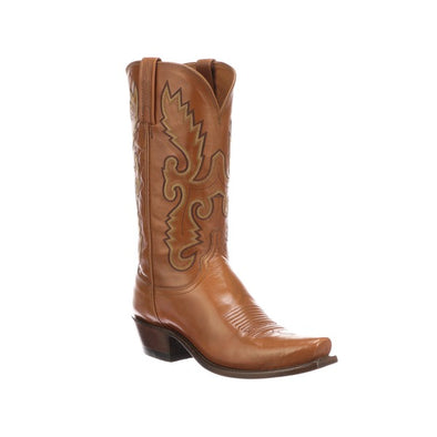 Men's Lucchese Linited Edition Buffalo Boots Handcrafted Cognac - yeehawcowboy