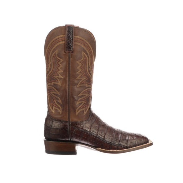 Men's Lucchese Limited Release Caiman Boots Handcrafted Sienna - yeehawcowboy