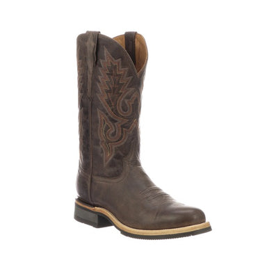 Men's Lucchese Rusty Leather Boots Handcrafted Dark Brown - yeehawcowboy
