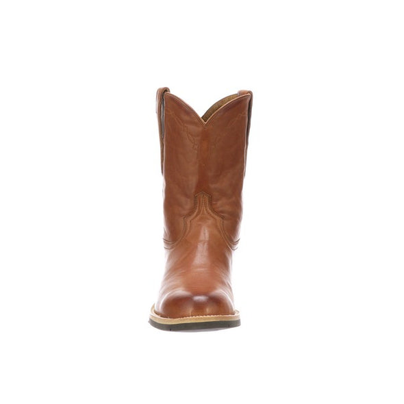 Men's Lucchese Raymond Leather Boots Handcrafted Cognac - yeehawcowboy