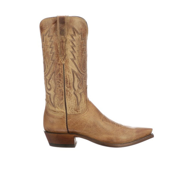 Men's Lucchese Lewis Goat Boots Handcrafted Tan - yeehawcowboy