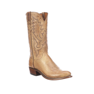 Men's Lucchese Lewis Mad Dog Goat Boots Handcrafted Tan - yeehawcowboy