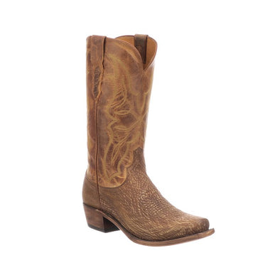 Men's Lucchese Carl Shark Boots Handcrafted Cognac - yeehawcowboy