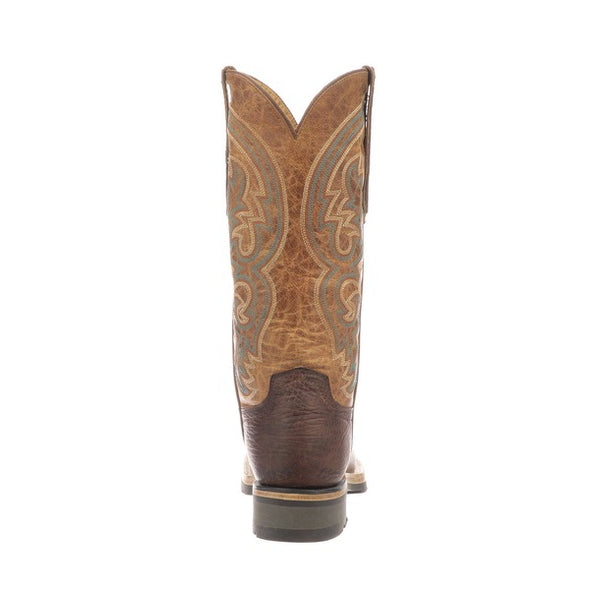 Women's Lucchese Ruth Leather Boots Handcrafted Chocolate - yeehawcowboy