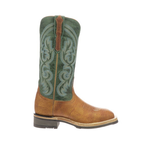 Women's Lucchese Ruth Leather Boots Handcrafted Cognac - yeehawcowboy