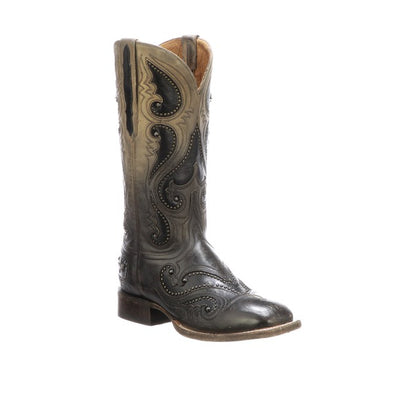 Women's Lucchese Rita Mad Dog Goat Boots Handcrafted Pearl Bone - yeehawcowboy