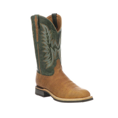 Men's Lucchese Rudy Leather Boots Handcrafted Cognac - yeehawcowboy