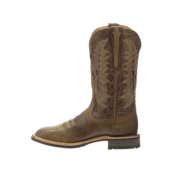 Men's Lucchese Rudy Leather Boots Handcrafted Olive - yeehawcowboy