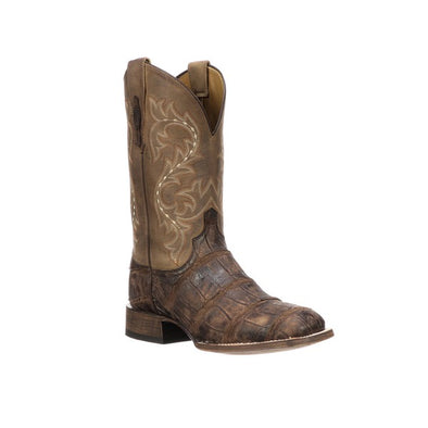 Men's Lucchese Malcolm Giant Gator Boots Handcrafted Chocolate - yeehawcowboy