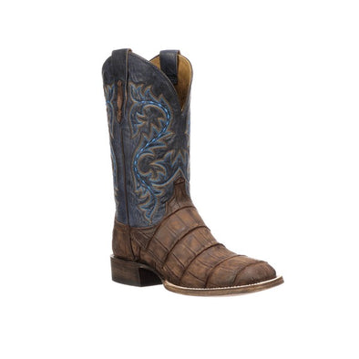 Men's Lucchese Malcolm Giant Gator Boots Handcrafted Brandy - yeehawcowboy