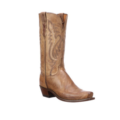 Women's Lucchese Cassidy Mad Dog Goat Boots Handcrafted Tan - yeehawcowboy