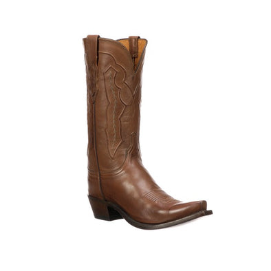 Women's Lucchese Grace Leather Boots Handcrafted Tan - yeehawcowboy