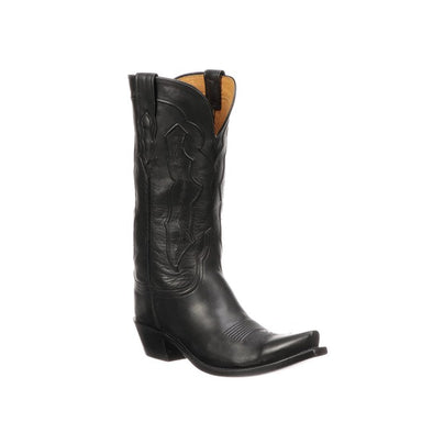 Women's Lucchese Grace Leather Boots Handcrafted Black - yeehawcowboy