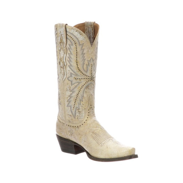 Women's Lucchese Marcella Leather Boots Handcrafted Bone - yeehawcowboy