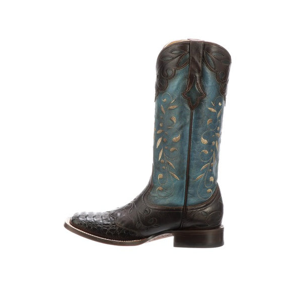 Women's Lucchese Sherilyn Crocodile Boots Handcrafted Chocolate - yeehawcowboy