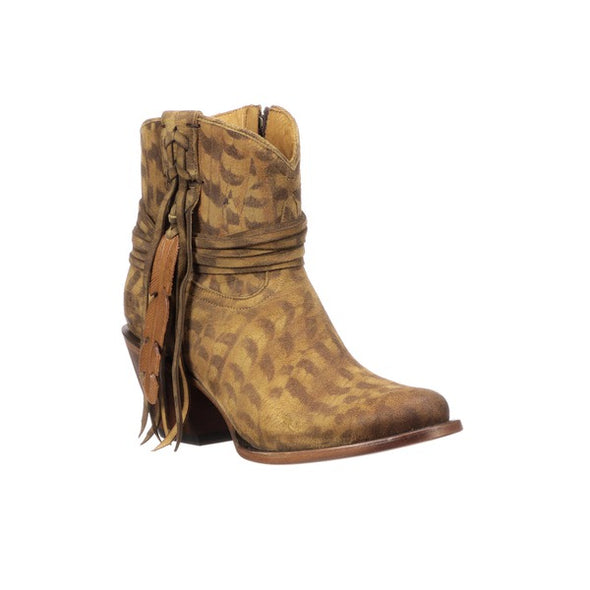 Women's Lucchese Robyn Suede Ankle Boots Handcrafted Tan - yeehawcowboy