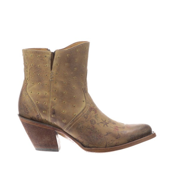 Women's Lucchese Harley Leather Ankle Boots Handcrafted Tan - yeehawcowboy