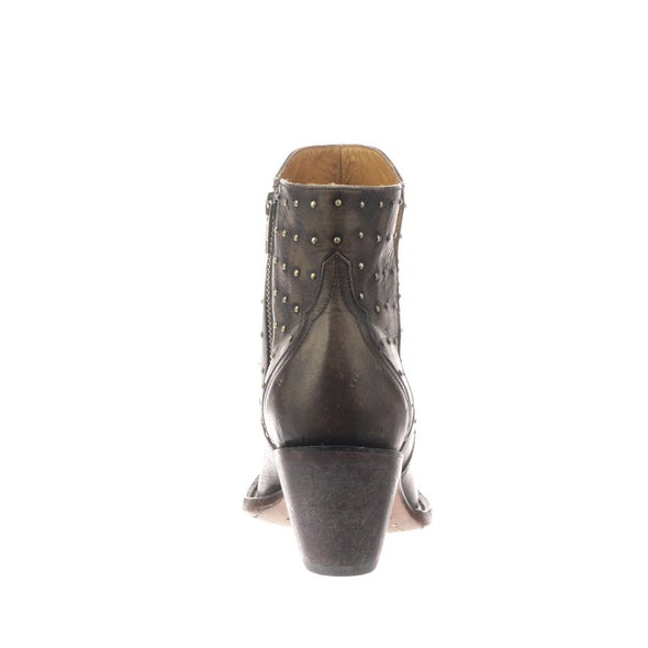 Women's Lucchese Harley Leather Ankle Boots Handcrafted Chocolate - yeehawcowboy