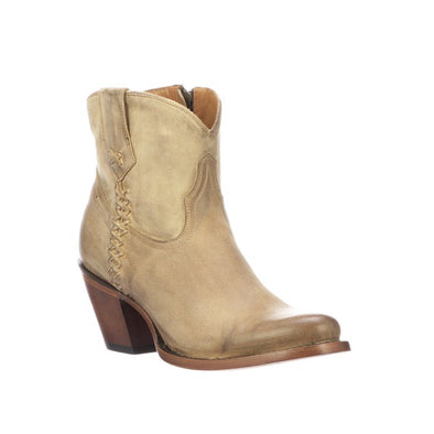 Women's Lucchese Avery Leather Ankle Boots Handcrafted Bone - yeehawcowboy