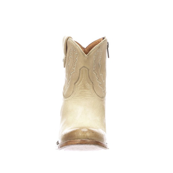 Women's Lucchese Wing Leather Ankle Boots Handcrafted Bone - yeehawcowboy