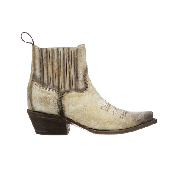Women's Lucchese Cleo Leather Ankle Boots Handcrafted Bone - yeehawcowboy