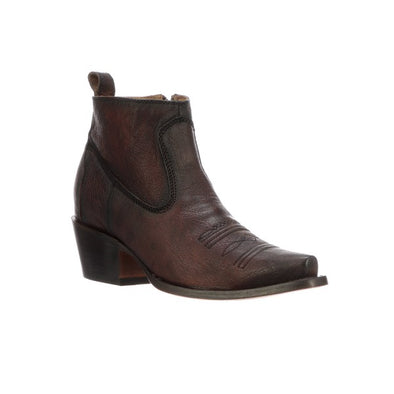 Women's Lucchese Sonia Leather Ankle Boots Handcrafted Cognac - yeehawcowboy