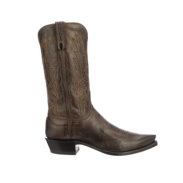 Men's Lucchese Corbin Mad Dog Goat Boots Handcrafted Chocolate - yeehawcowboy
