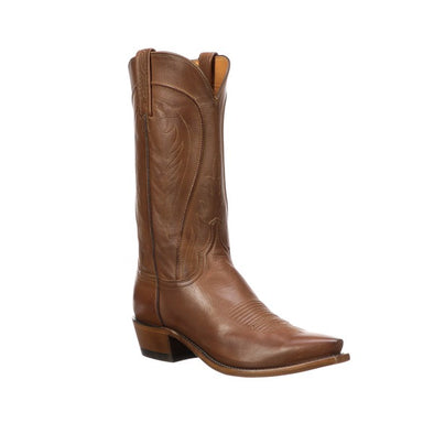 Men's Lucchese Bart Leather Boots Handcrafted Tan - yeehawcowboy