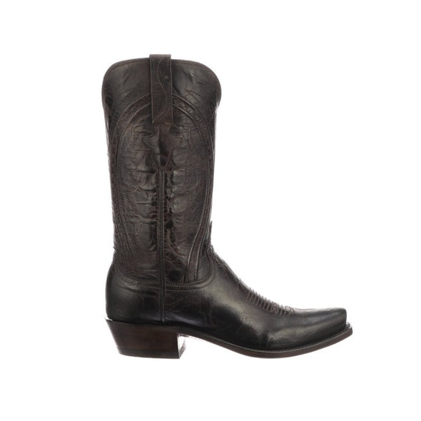 Men's Lucchese Clint Goat Boots Handcrafted Chocolate - yeehawcowboy