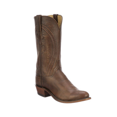 Men's Lucchese Clint Mad Dog Goat Boots Handcrafted Peanut Brittle - yeehawcowboy