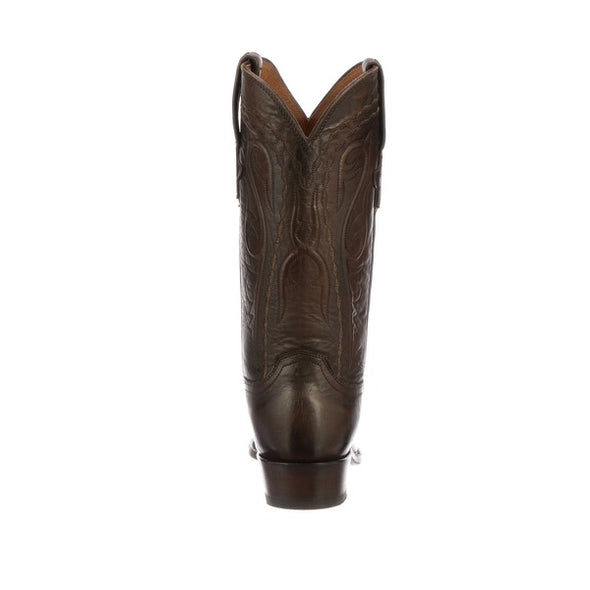 Men's Lucchese Brandon Leather Boots Handcrafted Costagno Brown - yeehawcowboy