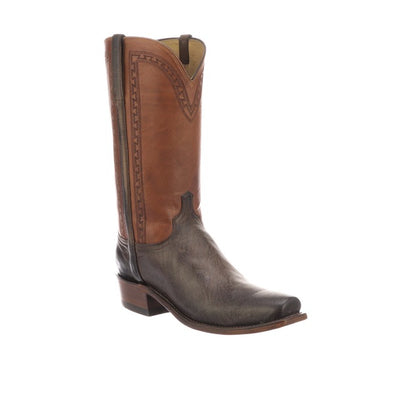 Men's Lucchese Stanley Goat Boots Handcrafted Chocolate - yeehawcowboy