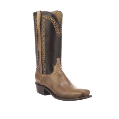 Men's Lucchese Stanley Goat Boots Handcrafted Pearl Bone - yeehawcowboy