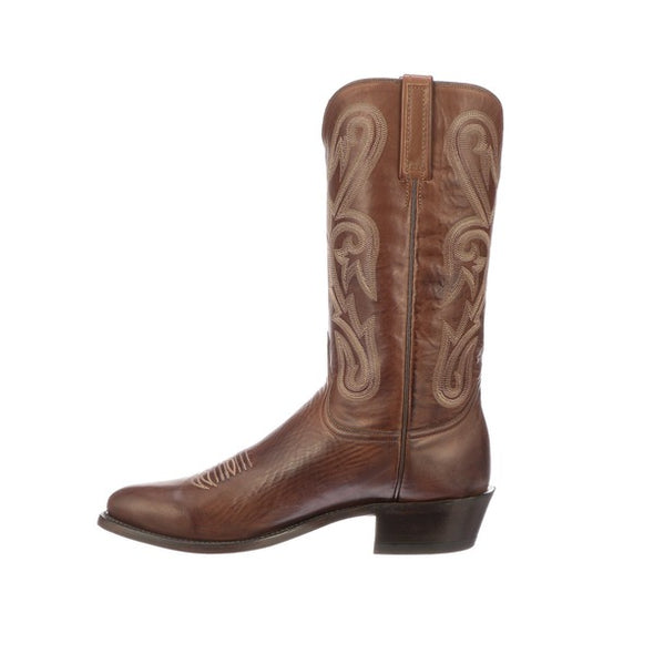 Men's Lucchese Blake Leather Boots Handcrafted Tan - yeehawcowboy