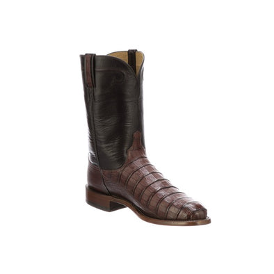 Men's Lucchese Gerard Caiman Belly Boots Handcrafted Sienna - yeehawcowboy