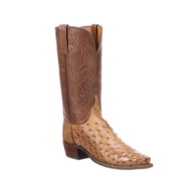 Women's Lucchese Dolly Full Quill Ostrich Boots Handcrafted Barnwood - yeehawcowboy