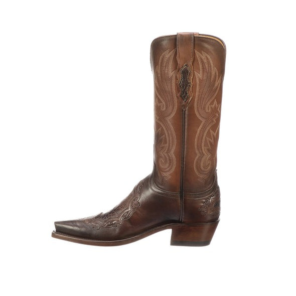 Women's Lucchese Beatrice Leather Boots Handcrafted Chocolate - yeehawcowboy