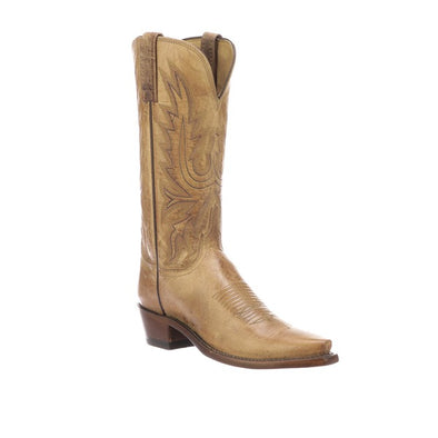 Women's Lucchese Savannah Goat Boots Handcrafted Tan - yeehawcowboy