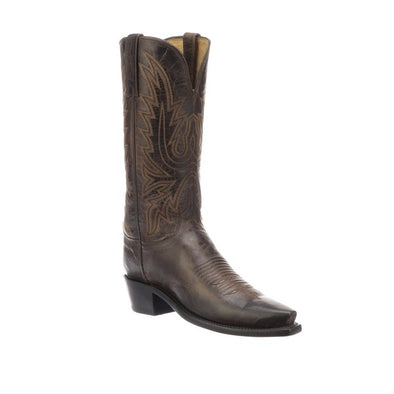 Women's Lucchese Savannah Goat Boots Handcrafted Chocolate - yeehawcowboy