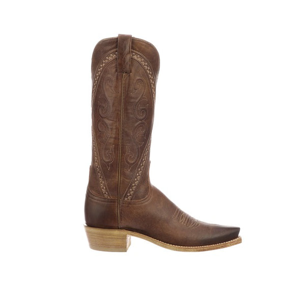 Women's Lucchese Darlene Goat Boots Handcrafted Tan - yeehawcowboy