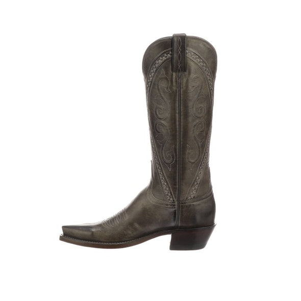 Women's Lucchese Darlene Goat Boots Handcrafted Anthracite Grey - yeehawcowboy