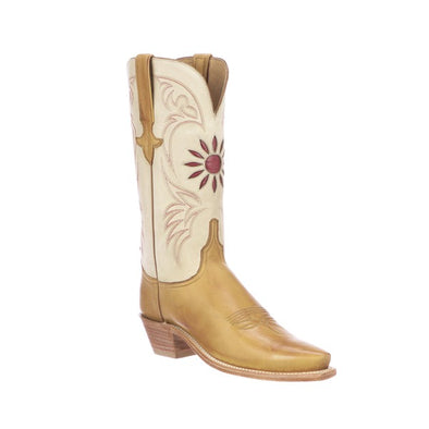 Women's Lucchese Thea Goat Boots Handcrafted Rust - yeehawcowboy