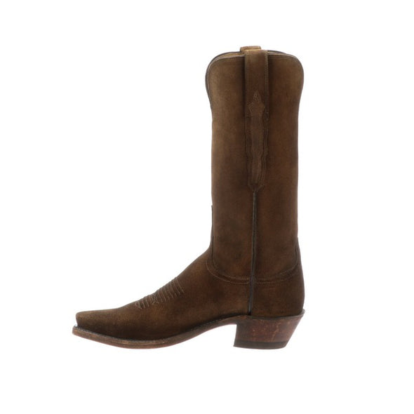Women's Lucchese Eleanor Leather Boots Handcrafted Stonewashed Cognac - yeehawcowboy